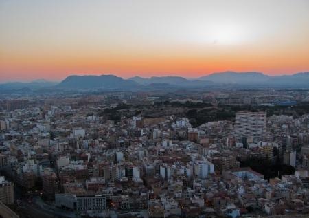 Cityscape of Alicante at night  Catalonia Spain