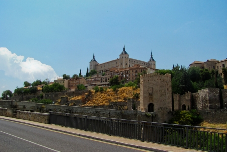 View of the city of Toledo, Spain Editorial