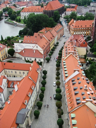 View of Wroclaw Old town, Poland photo