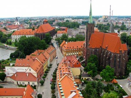 View of Wroclaw Old town, Poland Editorial