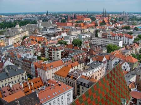 View of Wroclaw Old town, Poland Stock Photo