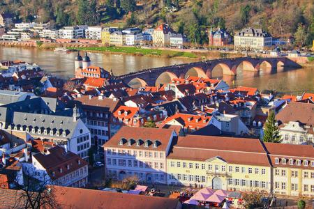 Top view of Heidelberg Stock Photo