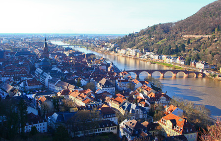 Top view of Heidelberg Stock Photo