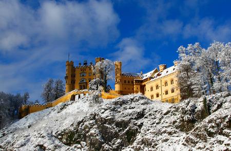 Hohenschwangau Castle near Neuschwanstein on a winter day