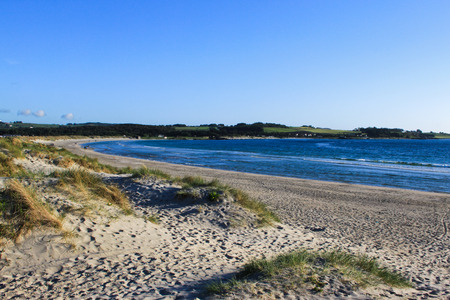 A sandy beach near Stavanger airport, Norway Stock Photo