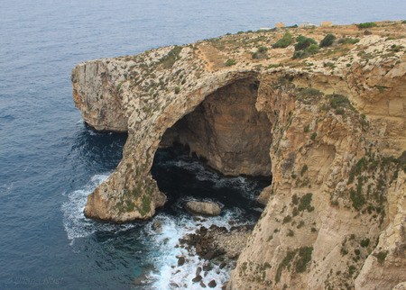 Blue Grotto View in Malta island, touristic destination in Malta Stock Photo