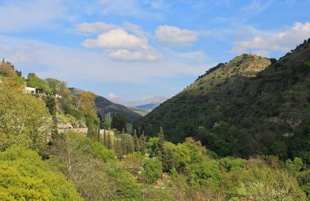 granada: View of the mountains outside Granada Spain