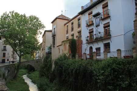 carrera: Old street Carrera del Darro in Granada, Spain