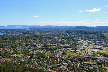 View of Oslo and Oslofjord on a sunny summer day Banque d'images