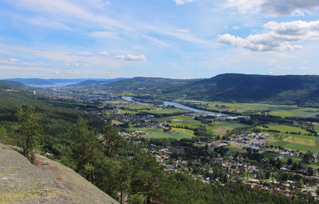 View of Drammen, Buskerud county in Norway
