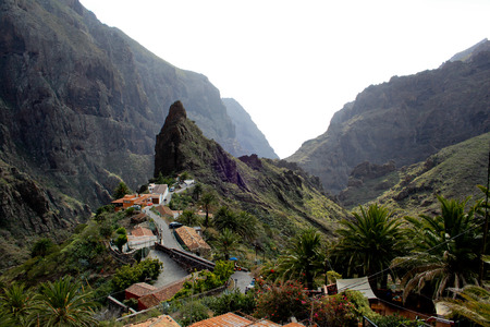 Top view on Masca village on Tenerife Canary Islands Spain