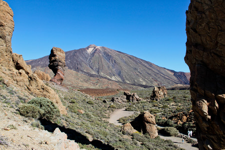 A view of volcano Mount Teide, in Teide National Park, in Tenerife, Canary, Spain Stock Photo