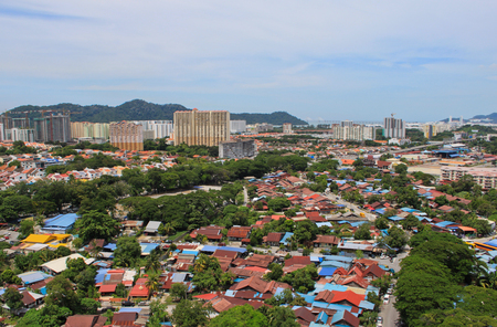 View on skyline of Georgetown in Penang, Malaysia