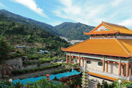 Kek Lok Si temple in Georgetown on Pulau Penang in Malaysia Stock Photo