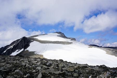 Galdhøpiggen, highest mountain in Scandinavia. Jotunheimen national park in Norway. Stock Photo