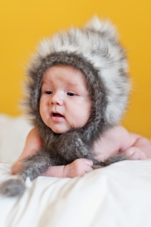 cute baby in hat Stock Photo