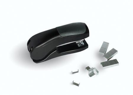 stapler on a white background Stock Photo