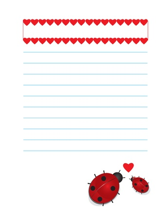 Valentines background ladybugs Vector