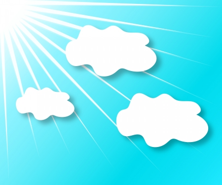 Background sunny sky and clouds,  contains gradients and transparency Stock Vector - 17593074