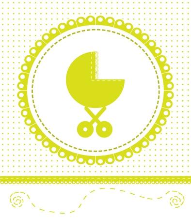 Postcard newborn baby. Vector
