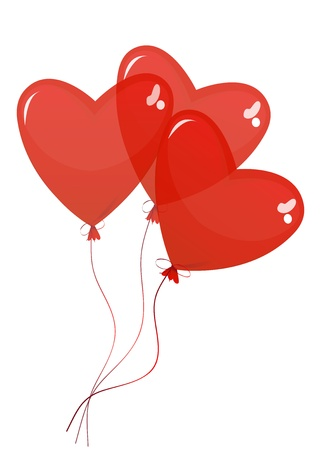 balloons in the shape of a heart on a white background Stock Vector - 17807335