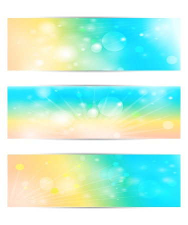 Set with the sun and the bokeh  Vector EPS10  Stock Vector - 18821838