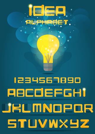 Idea alphabet  Vector EPS10  Illustration