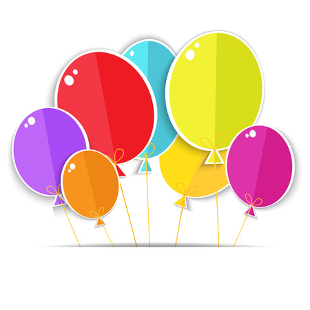 Greeting card with a color balloons   Vector EPS10  Vector