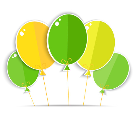 brasil: Greeting card with a color balloons   Vector EPS10
