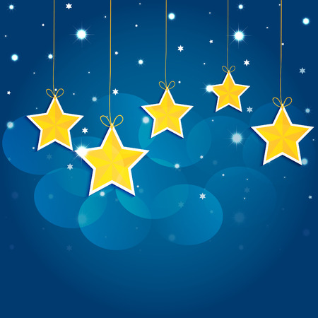 Cartoon stars in the night sky  Vector