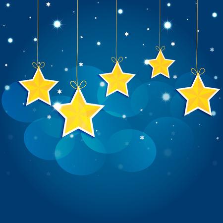 étoiles de bande dessinée dans le ciel nocturne