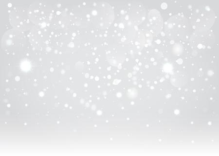 Snow bokeh background  Vector EPS10  Illustration