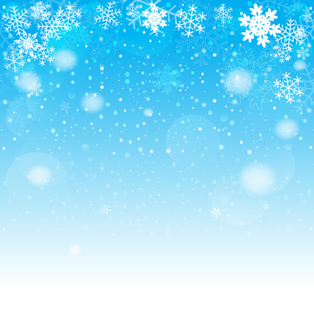 snowflake background: Blue Christmas background. Vector EPS10.