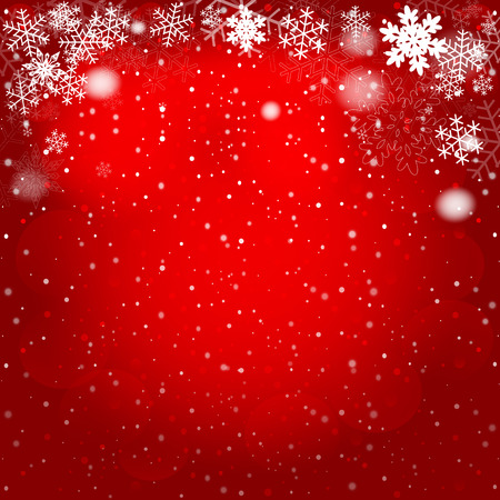 Red Christmas background. Vector EPS10. Illustration