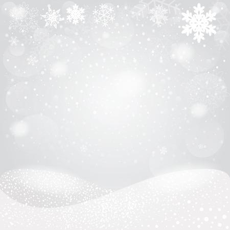 Snowflakes bokeh background. Vector EPS10. Illustration