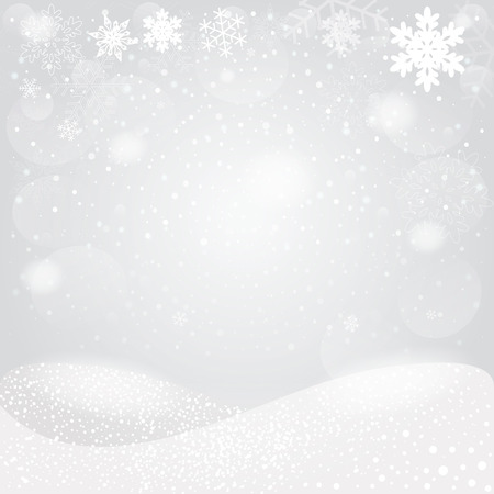 space background: Snowflakes bokeh background. Vector EPS10. Illustration