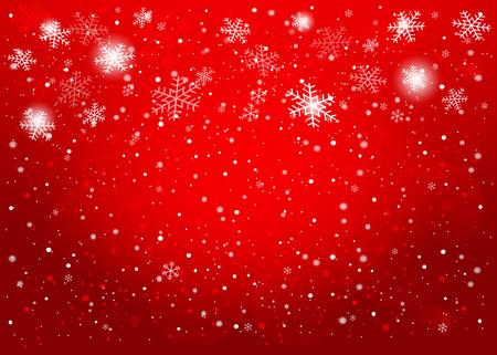 Red Christmas background. Vector EPS10. Illustration