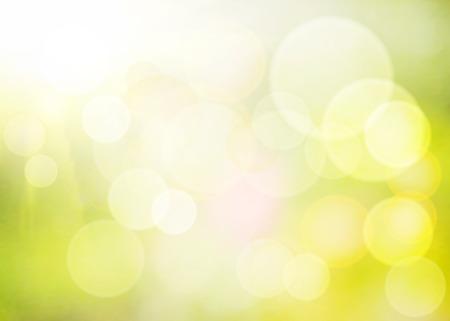 Vecteur vert bokeh. Spring background.