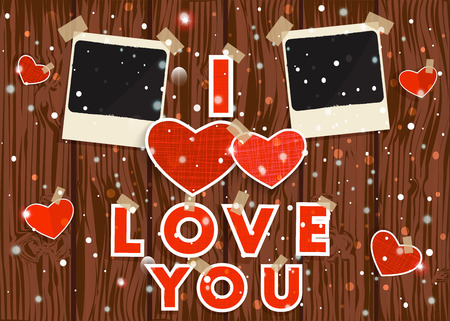 Happy Valentines day vector. Illustration