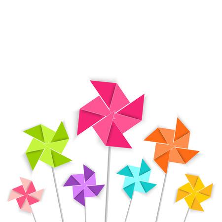 Coloring cartoon pinwheel toy Illustration