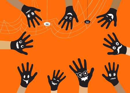 vector eps10: Halloween black hand. Vector EPS10.