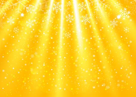 fantasy background: Christmas gold background. Vector Illustration