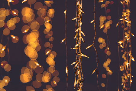 Defocused abstract background. Chocolate color for Christmas and New Year party. Stock Photo