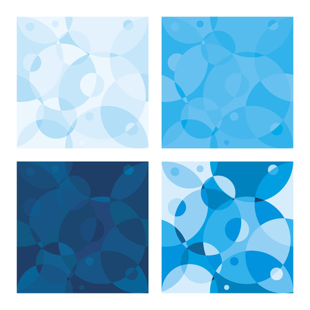 blue circles: Vector seamless background with blue circles