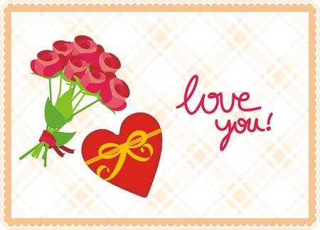 Love you vector illustration
