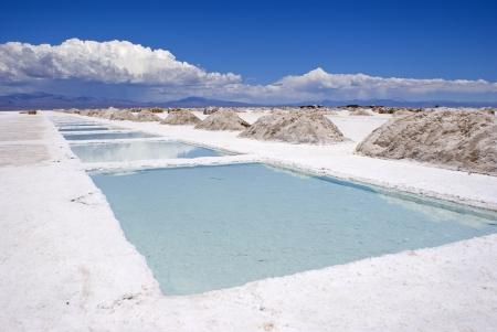 evaporacion: Sal laguna de evaporaci�n en Salinas Grandes de Jujuy Argentina
