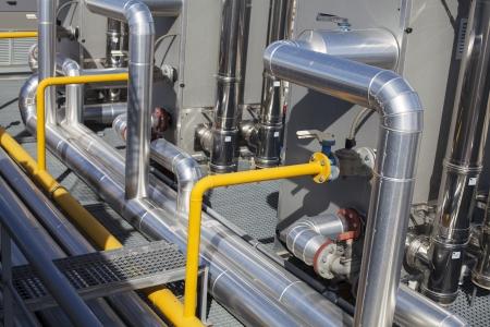 seguridad industrial: Sistema de aire acondicionado de un edificio industrial