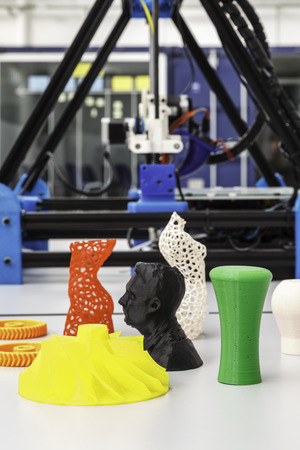 Printing 3d colored pieces with 3d printer