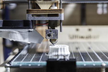 impresora: Detalle de impresi�n 3D Foto de archivo