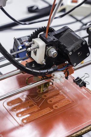 disruptive: Detail Of 3D printing Stock Photo